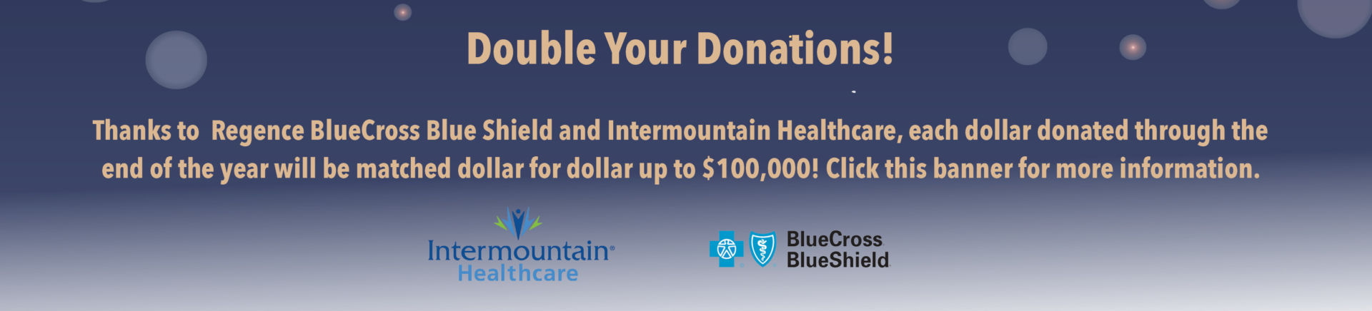 Double Your Donations Banner